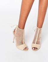 Asos ELIZABETH Peep Toe Mesh Shoe Boots