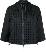 Diesel cropped sleeves jacket - women - Nylon/Polyester/Spandex/Elastane - S
