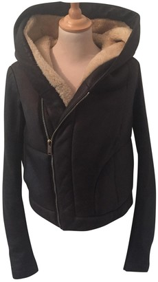 Rick Owens Brown Mongolian Lamb Leather Jacket for Women