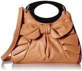 MG Collection Dacia Bowknot Ruffle Satchel Handbag