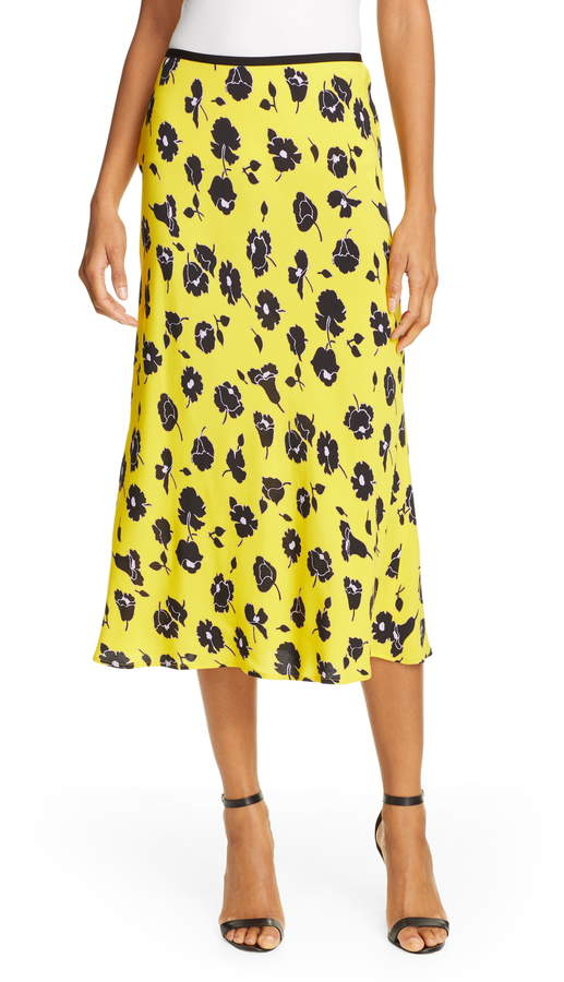 Diane von Furstenberg Mae Floral Midi Skirt