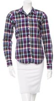 Steven Alan Plaid Button-Up Top