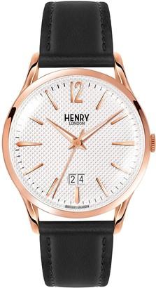 Henry London Richmond Unisex Quartz Watch with Analogue Quartz Leather HL41JS 0038