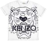 Kenzo Tiger Logo Printed Cotton Jersey T-Shirt