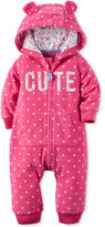 Carter's Baby Girls' Cute Dot-Print Hooded Coverall