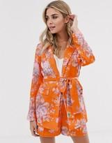 Asos Design DESIGN floral suit blazer