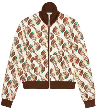 Gucci The North Face x Web print technical jersey jacket