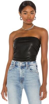 Amanda Uprichard X REVOLVE Palma Leather Tube Top