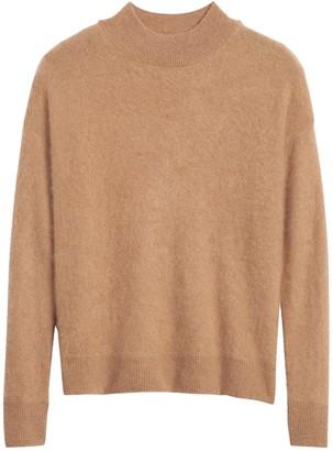 Banana Republic Brushed Cashmere Mock-Neck Sweater