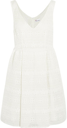 RED Valentino Cotton-blend Guipure Lace Mini Dress