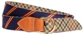 Brooks Brothers Kiel James Patrick Mini BB#1 Stripe and Green Plaid Belt