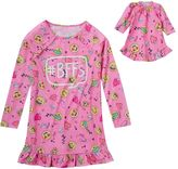 Girls 4-16 SO® Long-Sleeved Emoji Nightgown & Doll Dress Set