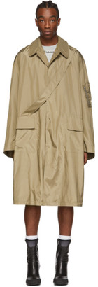Random Identities Beige Satin Overcoat