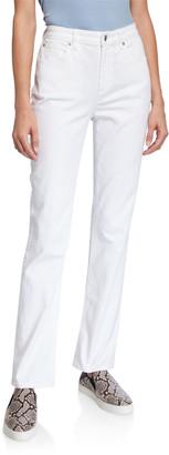 Eileen Fisher High-Rise Straight-Leg Denim Jeans