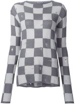 Marc Jacobs distressed checked jumper