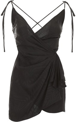ATTICO Wrap Shoulder Strap Mini Dress