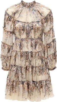 Zimmermann Ladybeetle Silk Chiffon Mini Dress