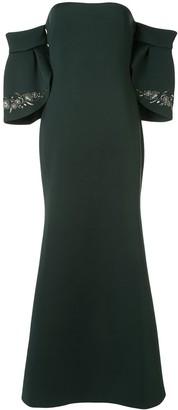 Badgley Mischka Off The Shoulder Long Dress