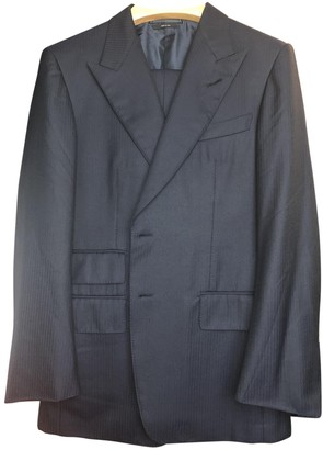 Tom Ford Blue Wool Suits