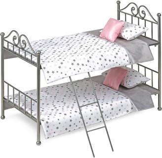 Badger Basket Scrollwork Metal Doll Bunk Bed