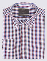 M&S Collection Easy to Iron Regular Fit Oxford Shirt