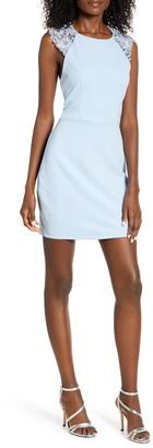 Speechless Lace Back Body-Con Sheath Dress