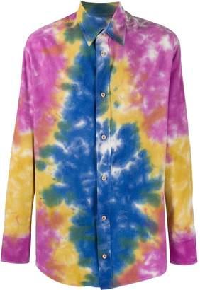 The Elder Statesman Tie-Dye Print Oversized Shirt
