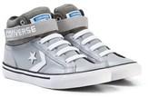 Converse Grey and White Kids Pro Blaze Stripe - Hi