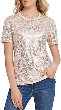 DKNY Sequin Top