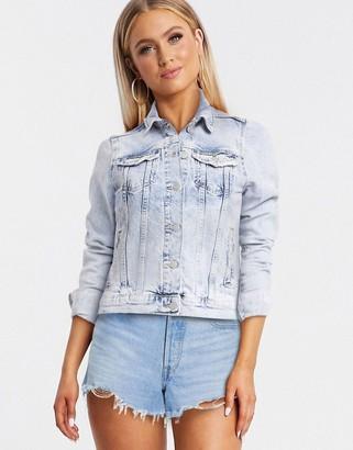 New Look denim jacket in bleach wash blue