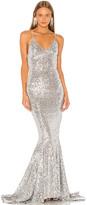 Norma Kamali Sequin Mermaid Fishtail Gown