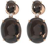 Crivelli 18K Rose Gold Diamond and Quartz Drop Earrings, Black