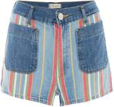 Wrangler Retro Pin Up Stripe Pocket Detail Mini Shorts