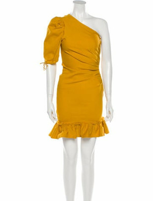 Jonathan Simkhai One-Shoulder Mini Dress Yellow