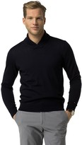 Tommy Hilfiger Tailored Collection Wool Shawl Collar Sweater
