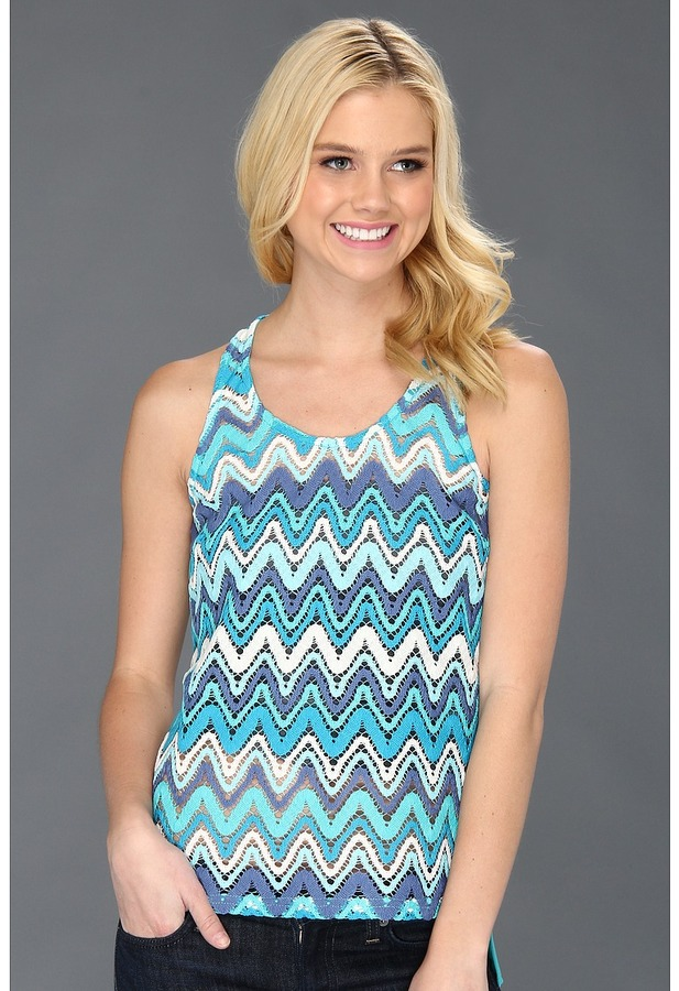 Lucy-Love Lucy Love - Crochet Renee Top (Bahama Blue) - Apparel