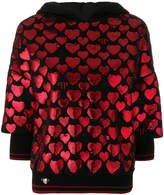 Philipp Plein heart sequin hoody