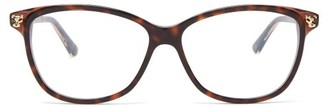 Cartier Panthere De Cat-eye Acetate Glasses - Tortoiseshell