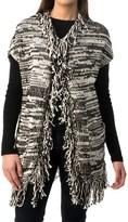 Pure Handknit Vintage Fringe Cardigan Sweater - Cotton (For Women)
