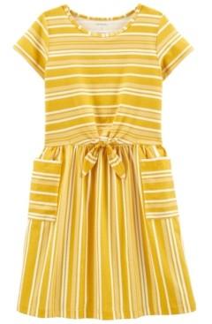 Carter's Big Girls Striped Pocket Dress