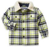 Gymboree Size 6-12M Plaid Sherpa Collar Shirt Jacket