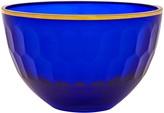 Oscar de la Renta Cobalt Gallery Medium Glass Serving Bowl