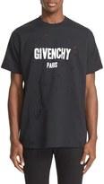 Givenchy Men's Burnout Logo T-Shirt