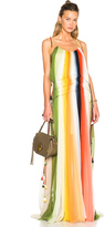 Chloé Rainbow Deep Dye Silk Crepon Dress