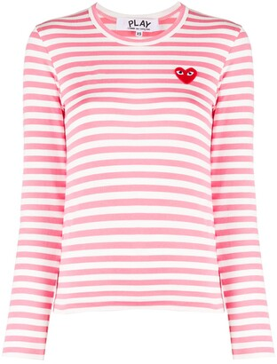Comme des Garcons Striped Cotton Sweatshirt