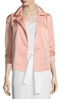Lafayette 148 New York Tavi Snap-Front Sateen Jacket