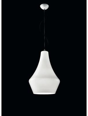 Leucos Alma 1 - Light Single Schoolhouse Pendant Shade Color: White