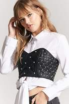 Forever 21 Faux Leather Studded Tube Top
