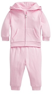 Ralph Lauren Polo Girls' 2 Pc Fleece Hoodie & Pants Set - Baby