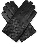 Bottega Veneta Half intrecciato-leather gloves